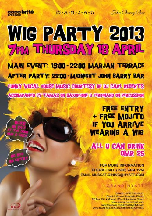 Wig Party flyer