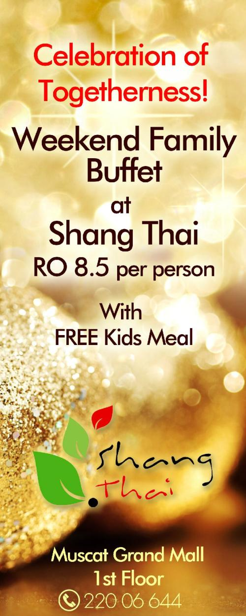 weekend family buffet shang thai