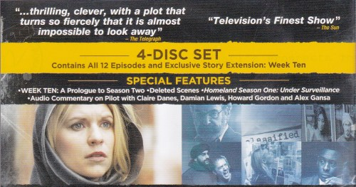 more info on Homeland DVD