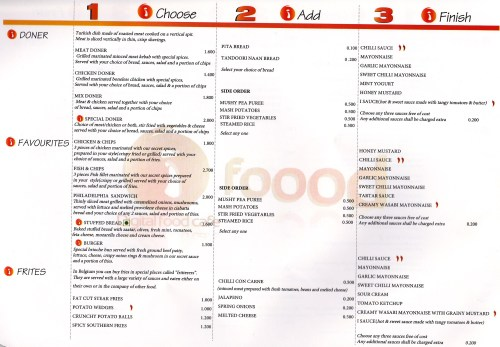 page 2 of menu