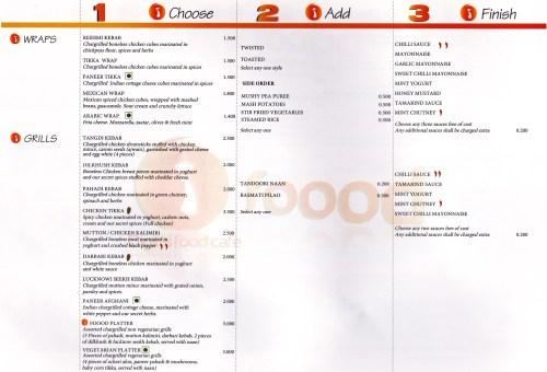 page 3 of menu