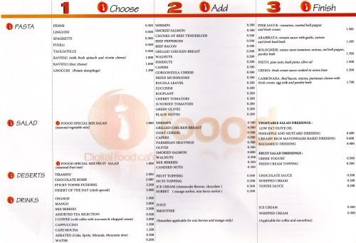 page 5 of menu