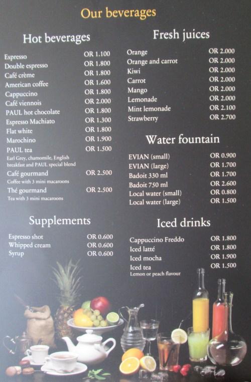 beverage page
