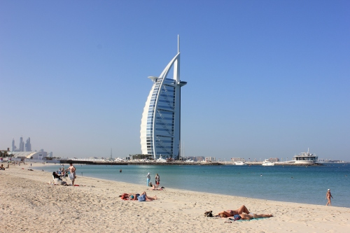 Burj Al Arab from the beach