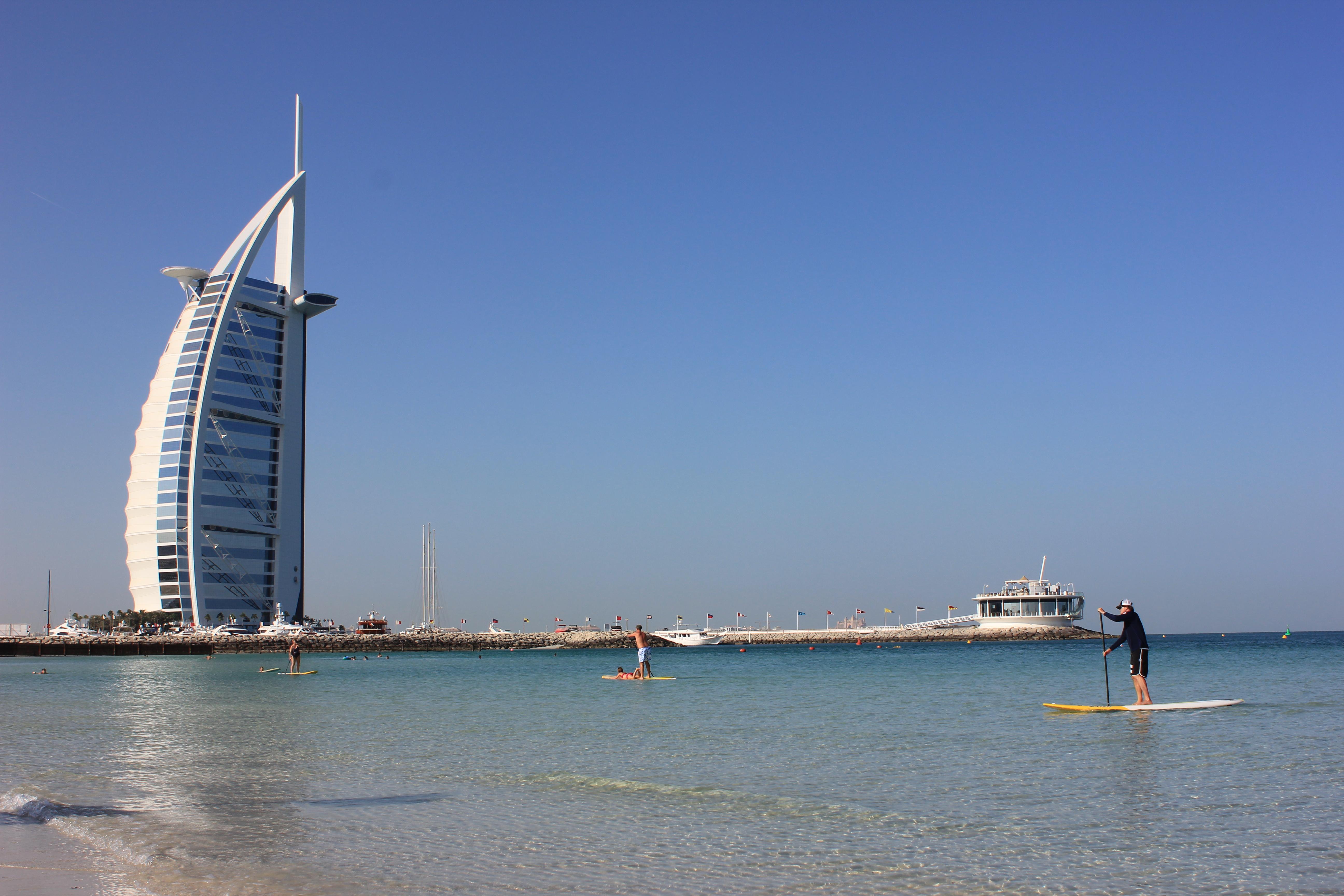 burj al arab and jumeirah open beach park | andy in oman