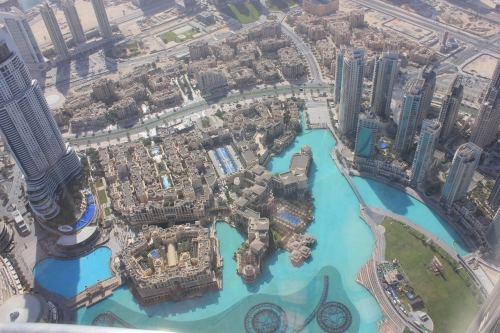 looking down from burj khalifa