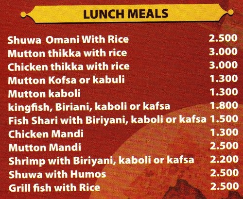 lunch items