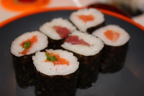 kimbop like rolls closeup