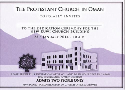 dedication of new ruwi church