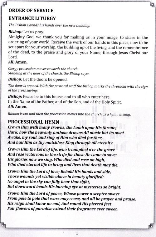 church program page 1