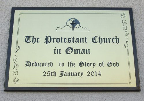 new church plaque