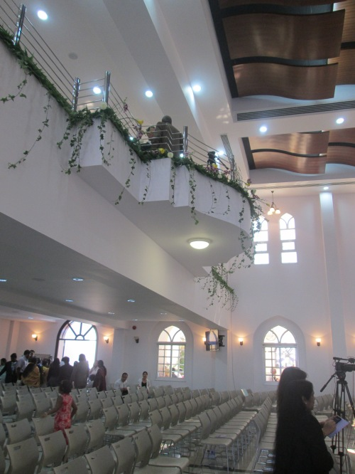 balcony and ceiling