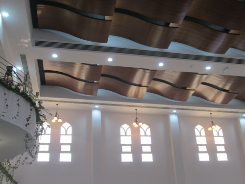 ceiling and balcony
