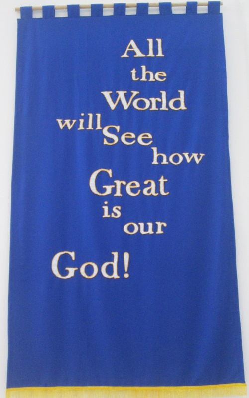 How great is our God banner