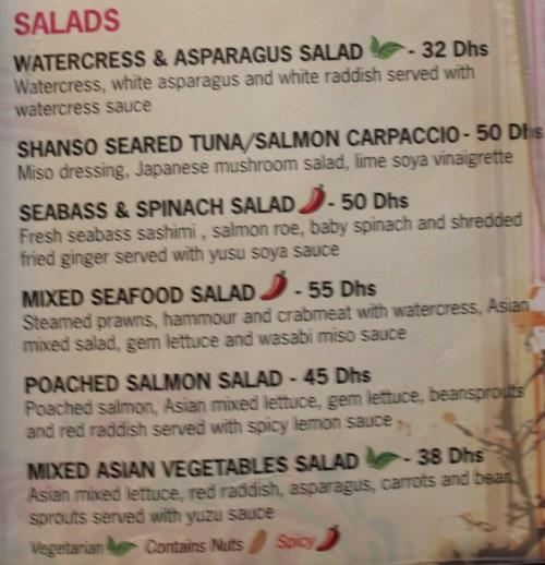 salads at miu shanghai