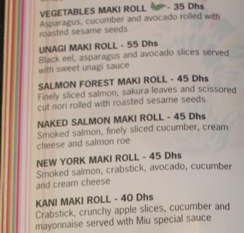 maki rolls