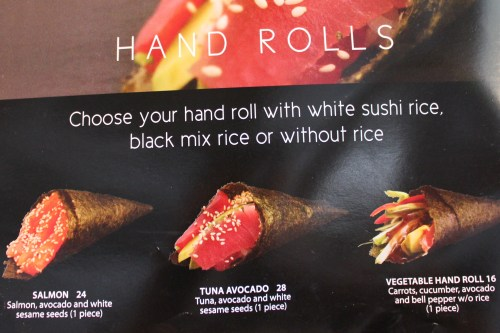 hand rolls sushi counter