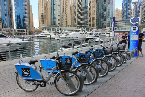 free bike use at Marina