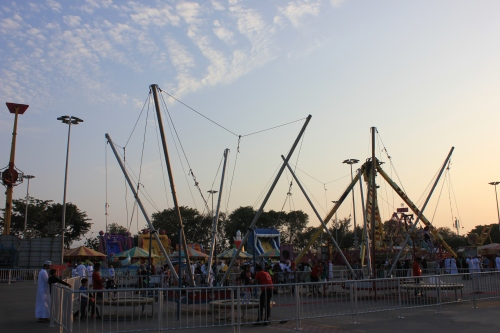 some carnival rides