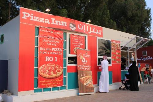 pizza inn at festival