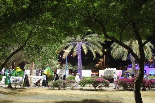 park during festival