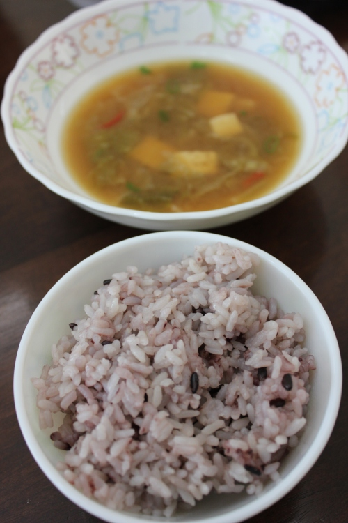 rice and soup