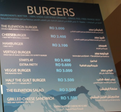 Burger Choices