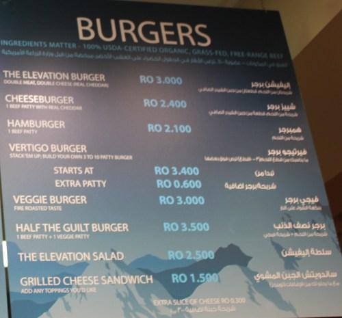 Burger Choices