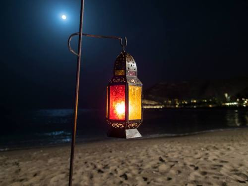 lantern at shore