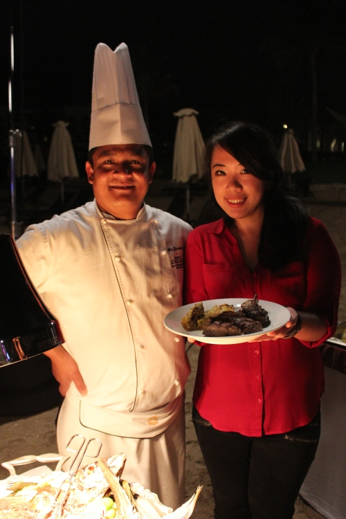 ingrid and chef shrestha