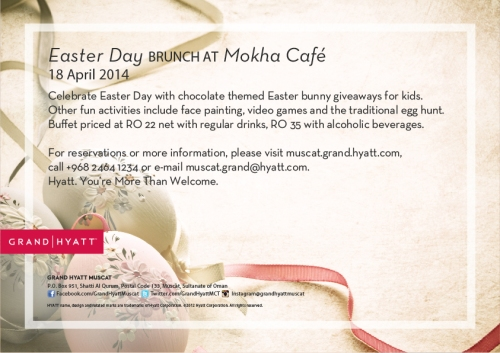 Easter Day Brunch at Mokha Cafe flyer