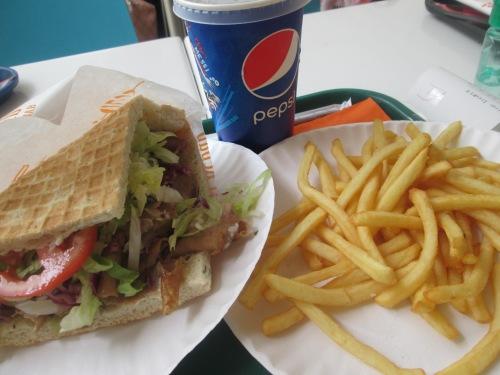 doner kebab meal